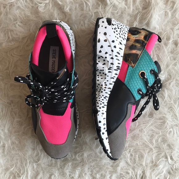 c7f82565d97 Steve Madden Shoes | Cliff Bright Multi Sneaker | Poshmark